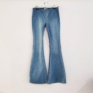 Free People denim bell bottoms flare leg jeans
